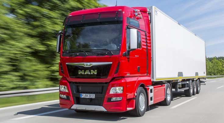Die neue Top-Motorisierung von MAN, der D38 erzeugt in seiner st�rksten Variante 580 PS. Foto:MAN/sk