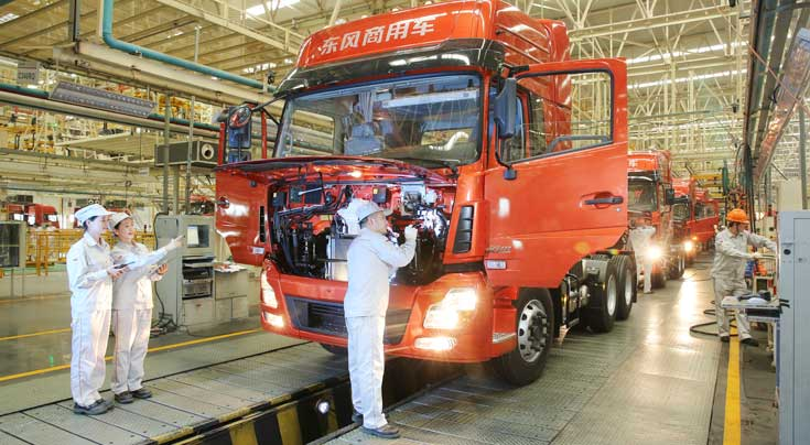China geh�rt zu den Hauptm�rkten f�r Nutzfahrzeuge. Foto: Neptune Orient Lines/APL