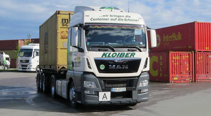 Wir bringen Container auf die Schiene: F�r Kloiber Transporte geh�ren Stra�e und Schiene zusammen. Foto: sk