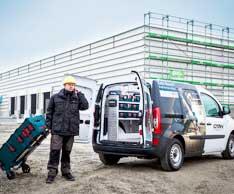 Alles am Mann: Das neue Transport-, Ordnungs- und Arbeitssystem WorkMo von Sortimo. Foto: Sortimo