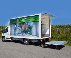 Nutzlaststarker Kofferaufbau: Der Neuzugang bei Europcar kann rund 1000 kg zuladen. Foto: Europcar