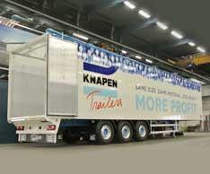 Leichter Schubbodentrailer: Der K200-Light von Knapen Trailers. Foto: Knapen Trailers
