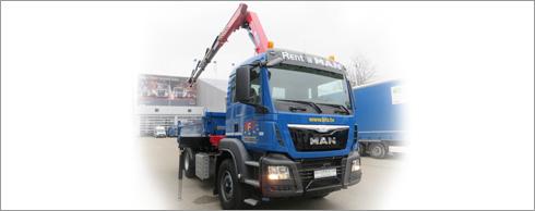 BFS geh�rt zu den wenigen Vermietern, die auch Baufahrzeuge in der Flotte haben. Foto: BFS