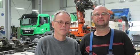 Erfahrene Nutzfahrzeugprofis: Getriebereparaturen geh�ren zu den Spezialit�ten der Stolle Nutzfahrzeugtechnik. Foto: sk