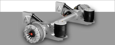 SAF-Holland gew�hrt f�r spritzverzinkte 9-t-Achse 10 Jahre Garantie. Foto: SAF-Holland