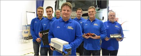 Servicekompetenz bewiesen: Das Top Team von Scania M�nchen/Oberschlei�heim. Foto: Scania