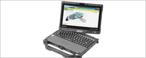 Robust und vielseitig: Die robuste, werkstatttaugliche DCU 220 (Diagnostic Control Unit) steuert die Pr�f- und Diagnosesysteme von Bosch.  Foto: winkler