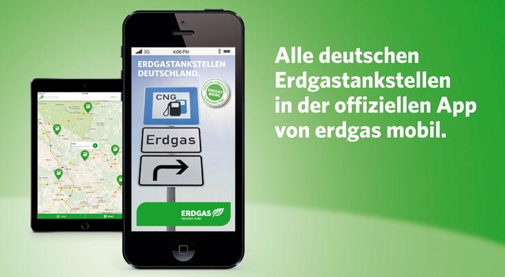 Bei der Neugestaltung der App wurde viel Wert auf eine einfache und intuitive Bedienung gelegt. Foto erdgas mobil