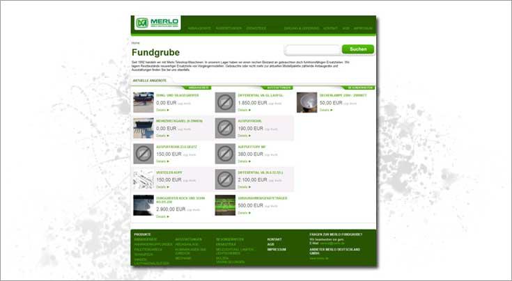 Die Online-Fundgrube ist nur eines der Internetangebote von Merlo. Foto1: Merlo Deutschland