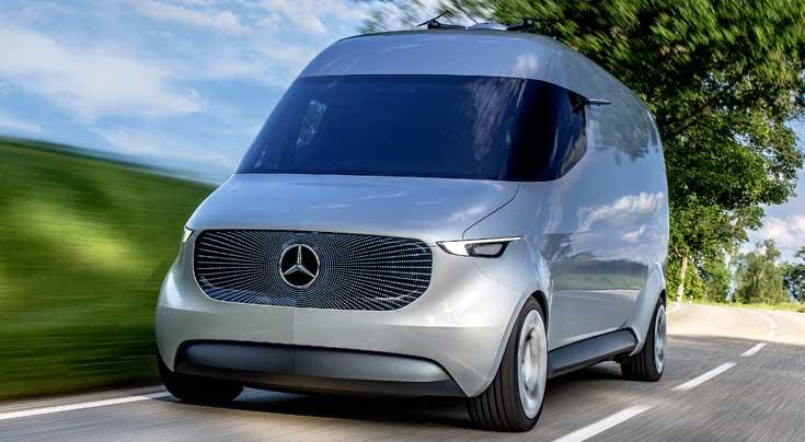 Mit der Vision-Van-Studie stellt sich Mercedes-Benz Vans den Herausforderungen der Zukunft. Foto:Daimler