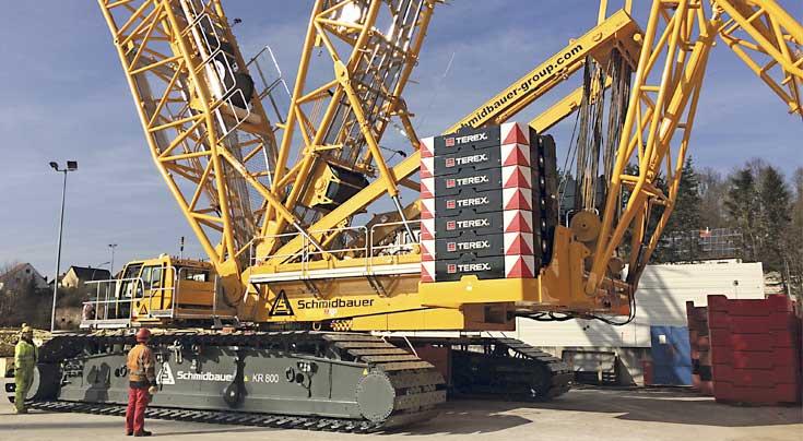 Die Flotte wird um einen Superlift 3800 von Terex mit umfangreicher Zusatzausstattung bereichert. Foto: Terex