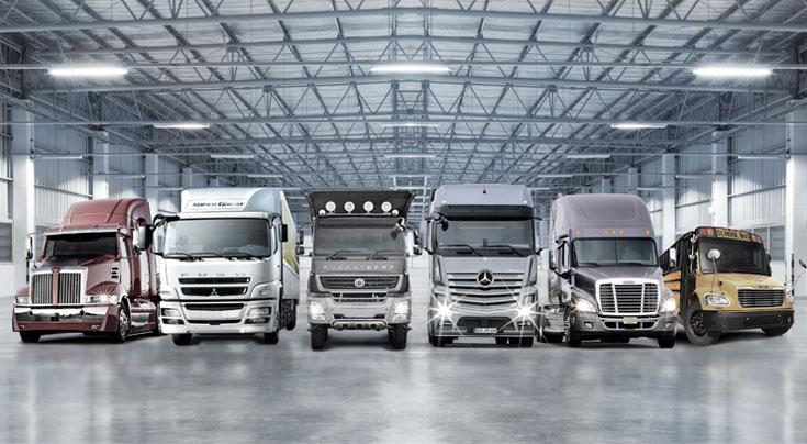 Viele Marken, eine Plattformstrategie: Die baut Daimler Trucks aktuell konsequent aus. Foto: Daimler