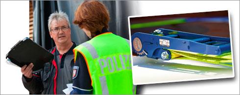 Ein neues System von SpanSet überwacht die Ladungssicherung kontinuierlich. Fotos: SpanSet, Schuhmann