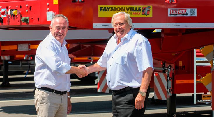 Haben eine noch engere Zusammenarbeit beschlossen: Alain Faymonville (Faymonville Gruppe, li.) und Helmut Sucko (ES-GE). Foto: Faymonville